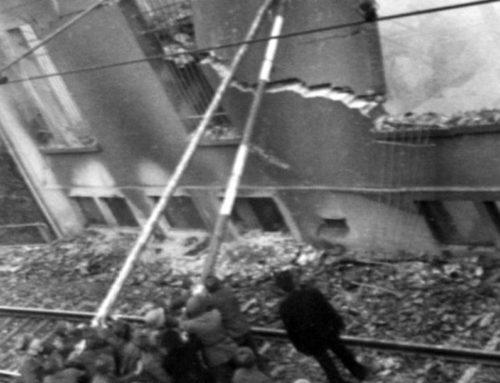 Schadensbekämpfung nach der Bombardierung am 1. April 1944