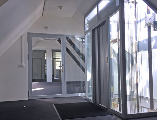 Der Eingangsbereich im 4. OG